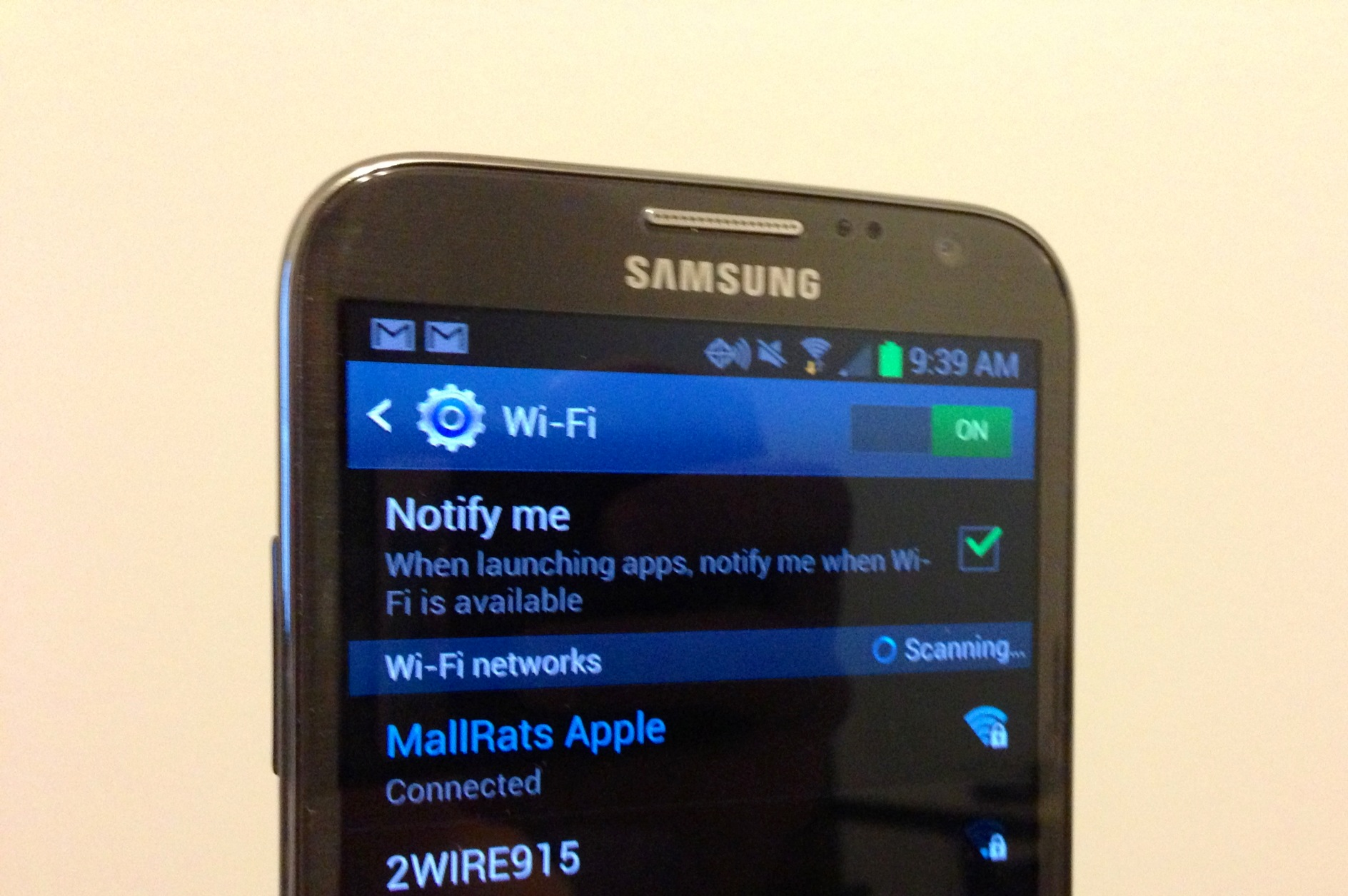 Samsung Galaxy mất wifi