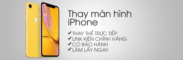 Thay mat kinh man hinh iphone xr chinh hang tai HN, BN