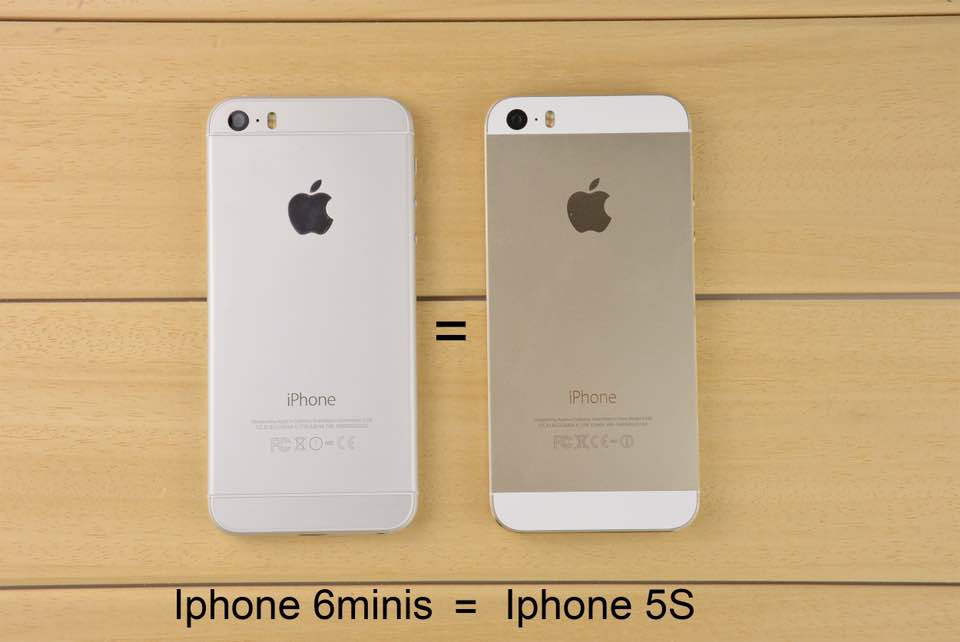 Vỏ iPhone 5, 5S lên thành iphone 6 champagne - suachua60s.com