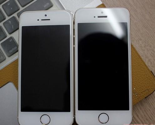 Thay vỏ iPhone 5,5S thành 6 - Độ vỏ iPhone_Mặt trước hai máy tương tự nhau