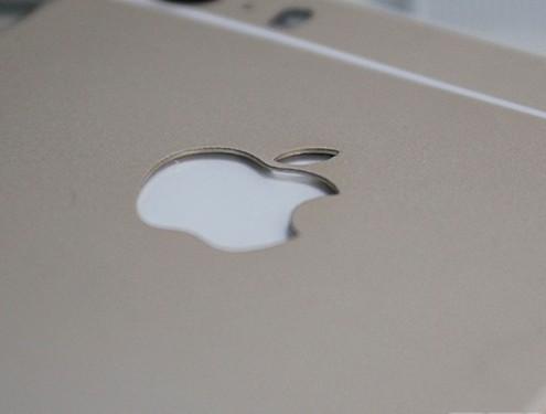 Thay vỏ iPhone 5,5S thành 6 - Độ vỏ iPhone_Logo phát sáng được khoét sâu để lắp đèn bên trong