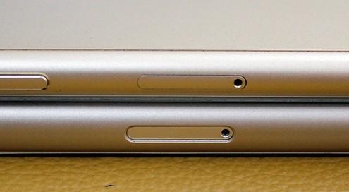 Thay vỏ iPhone 5,5S thành 6 - Độ vỏ iPhone_Khe cắm thẻ sim của hai máy tương đương nhau