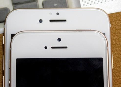 Thay vỏ iPhone 5,5S thành 6 - Độ vỏ iPhone_Mặt trước của iPhone 5S độ và iPhone 6 Plus