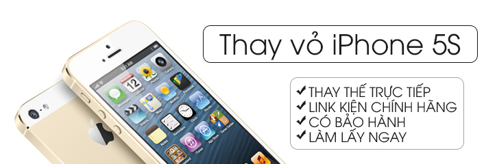 Thay vỏ iPhone 5, iPhone 5S lấy ngay