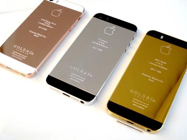 Thay vỏ iPhone 5, 5S mạ vàng 24k Limited Edition - suachua60s.com