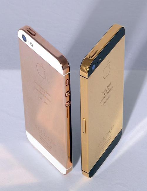 Vỏ iPhone 5 5S mạ vàng 18K - suachua60s.com