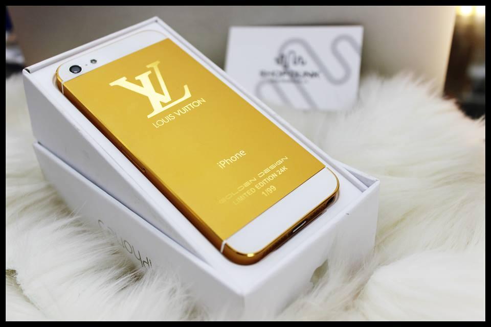 Vỏ iPhone 5 5s mạ vàng 24k - bản Louis Vuitton