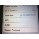 Sửa iPhone 4 lỗi NO-IMEI, mất IMEI